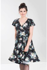 Hell Bunny Hell Bunny 1950s Vintage Flora Jersey Swing Dress