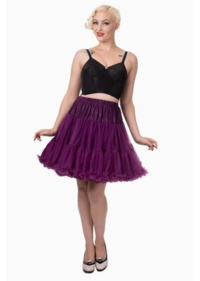 Banned Banned 50s Walkabout Petticoat Short Aubergine 21'