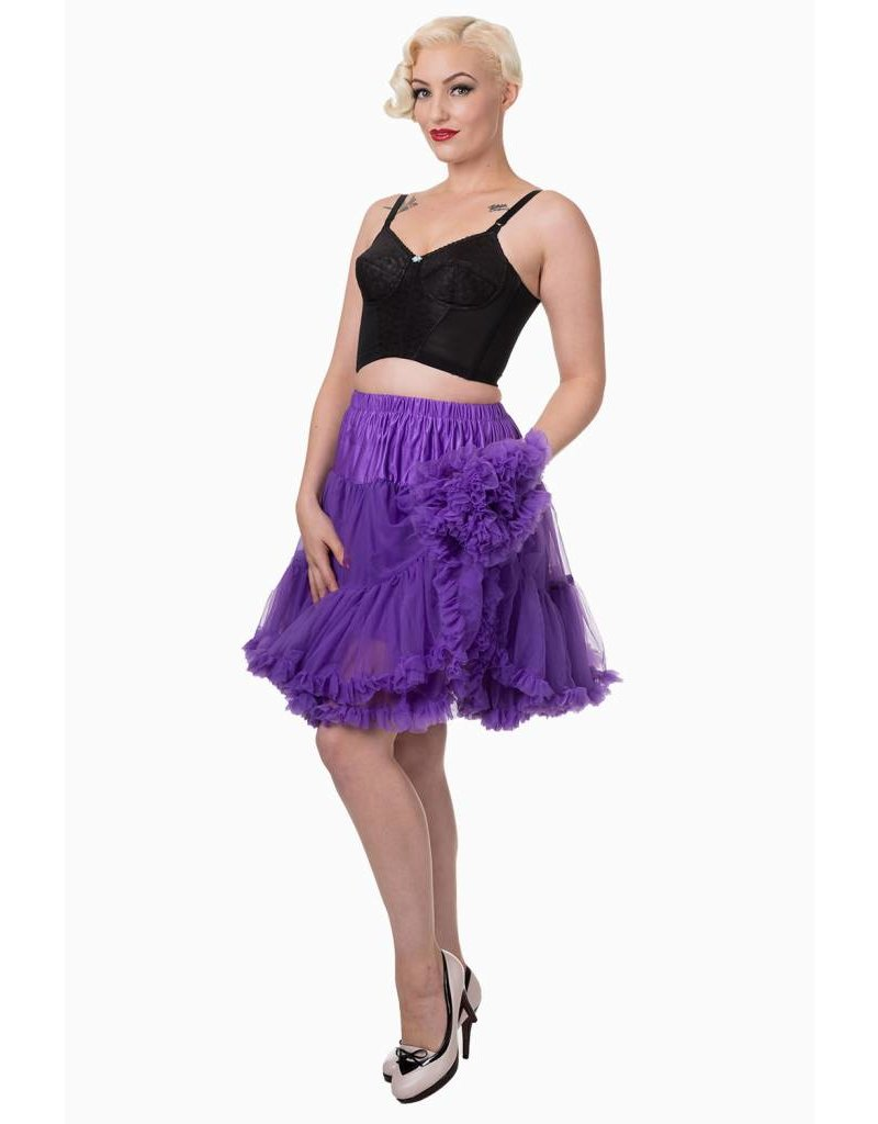 Banned Banned 50s Walkabout Petticoat Short Purple 21'