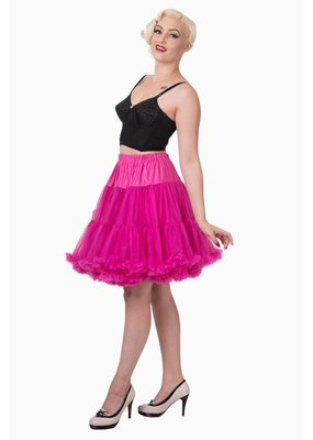 Banned PRE ORDER Banned Walkabout Petticoat Hot Pink 21'