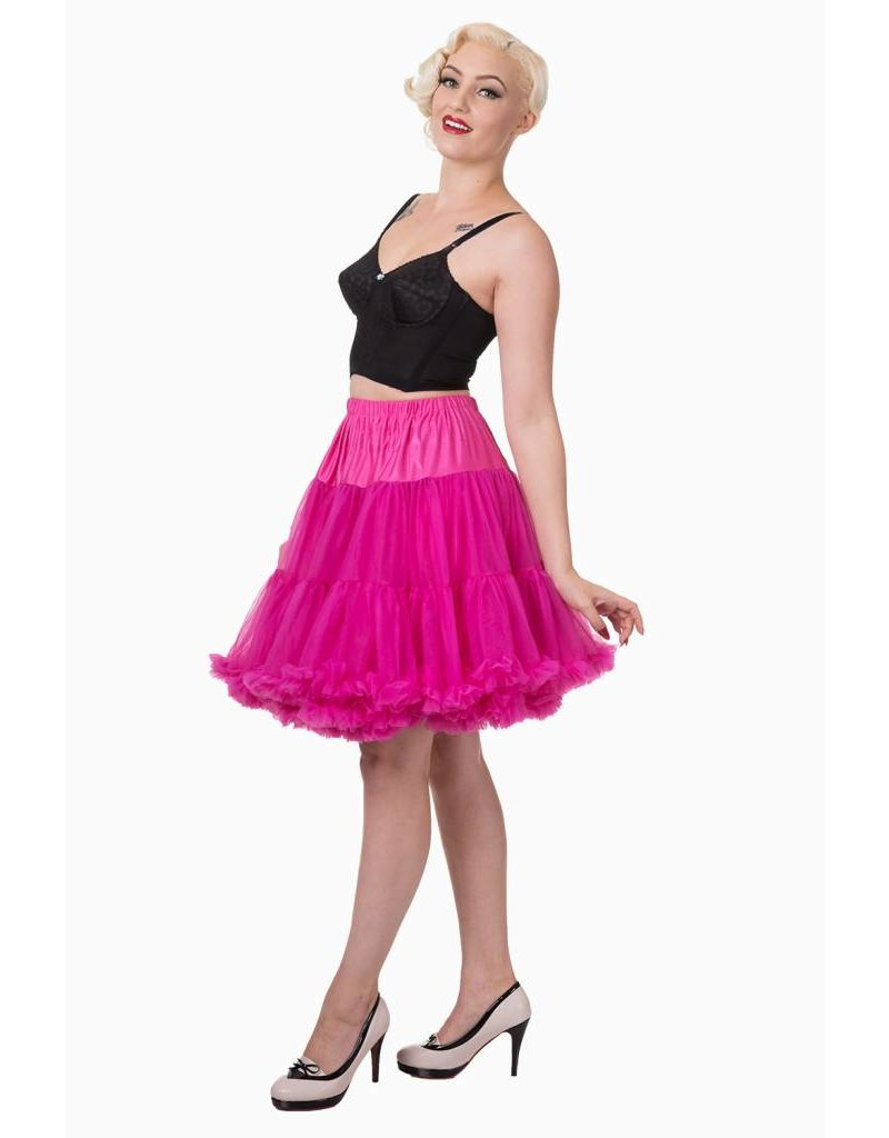 Banned Banned 50s Walkabout Petticoat Short Hot Pink 21'