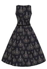 Lady V London Lady Vintage1950s Hepburn Art Deco Dream Swing Dress