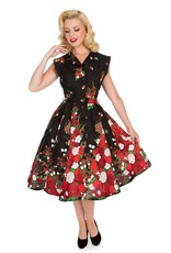 Hearts and Roses Hearts & Roses 1950s Floral Shirtwaist Button Dress