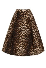 Hell Bunny Hell Bunny 1950s Panthera Leopard Swing Skirt