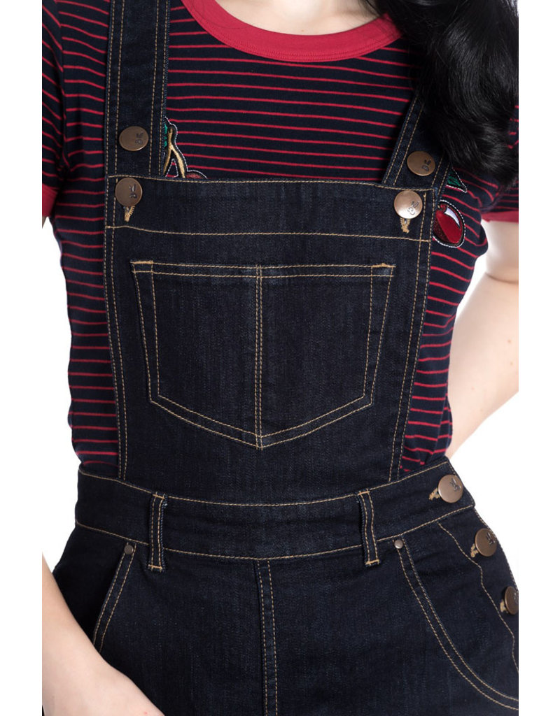 Hell Bunny PRE ORDER Hell Bunny 1940s Elly May Denim Dungarees
