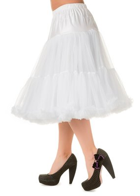 Banned Banned 50s Lifeform Petticoat Long White 27'
