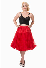 Banned Banned 50s Lifeform Petticoat Long Red 27'