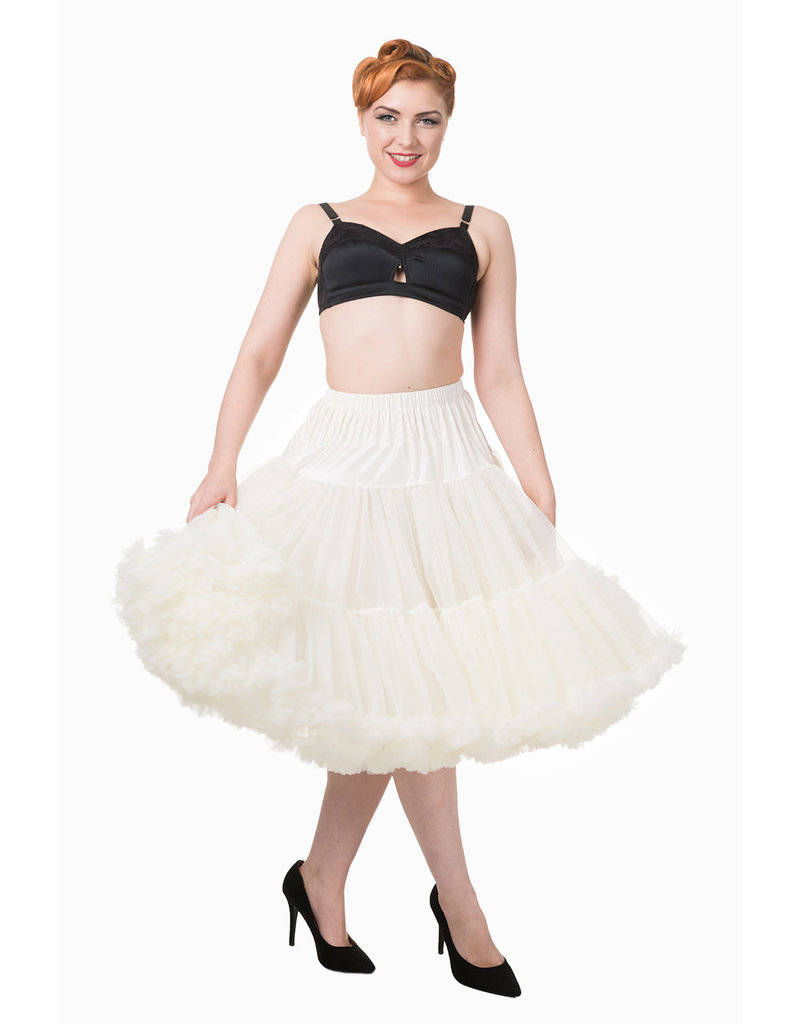 Banned Banned 50s Lifeform Petticoat Long Ivory 27'