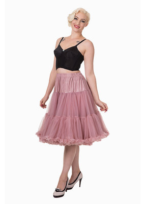 Banned Banned 50s Lifeform Petticoat Long Dusty Pink 27'