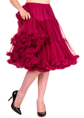Banned Banned 50s Lifeform Petticoat Long Bordeaux 27'