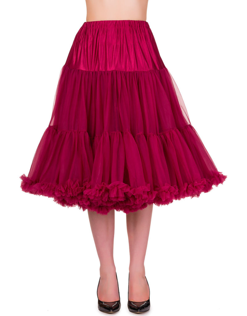 Banned PRE ORDER Banned Lifeform Petticoat Bordeaux 27'