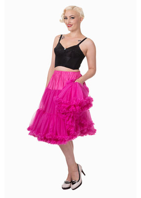 Banned Banned 50s Lifeform Petticoat Long Hot Pink 27'
