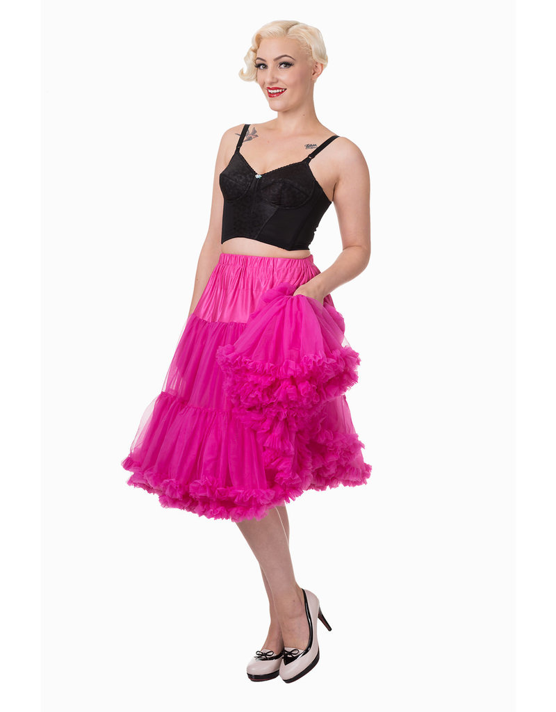 Banned PRE ORDER Banned Lifeform Petticoat Hot Pink 27'