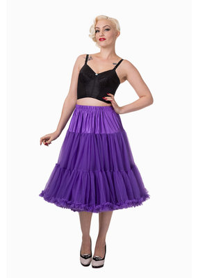 Banned Banned 50s Lifeform Petticoat Long Purple 27'