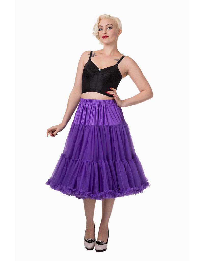 Banned Banned 50s Lifeform Petticoat Long Purple 27'
