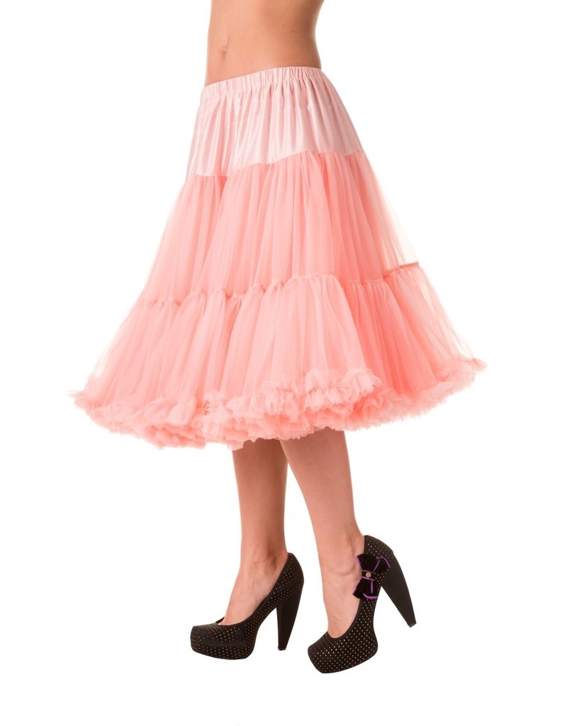 Banned Banned 50s Lifeform Petticoat Long Soft Pink 27'