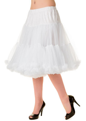 Banned Banned 50s Starlite Petticoat Medium White 23'