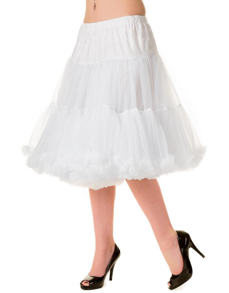 Banned Banned 50s Starlite Petticoat Medium White 23'