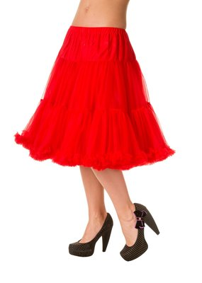 Banned Banned 50s Starlite Petticoat Medium Red 23'