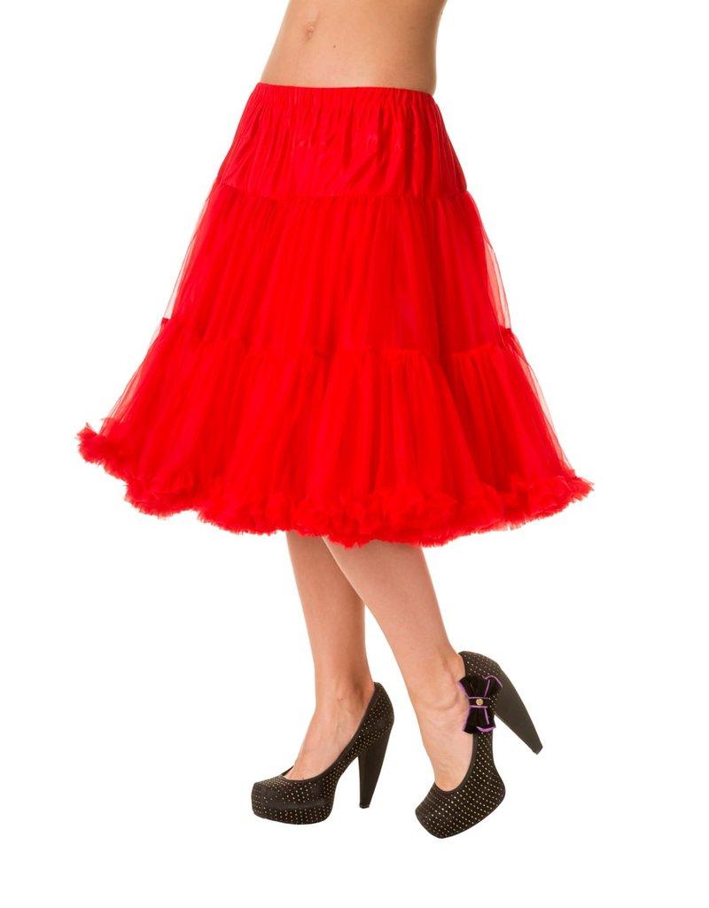 Banned Banned 50s Starlite Petticoat Medium Red 23'