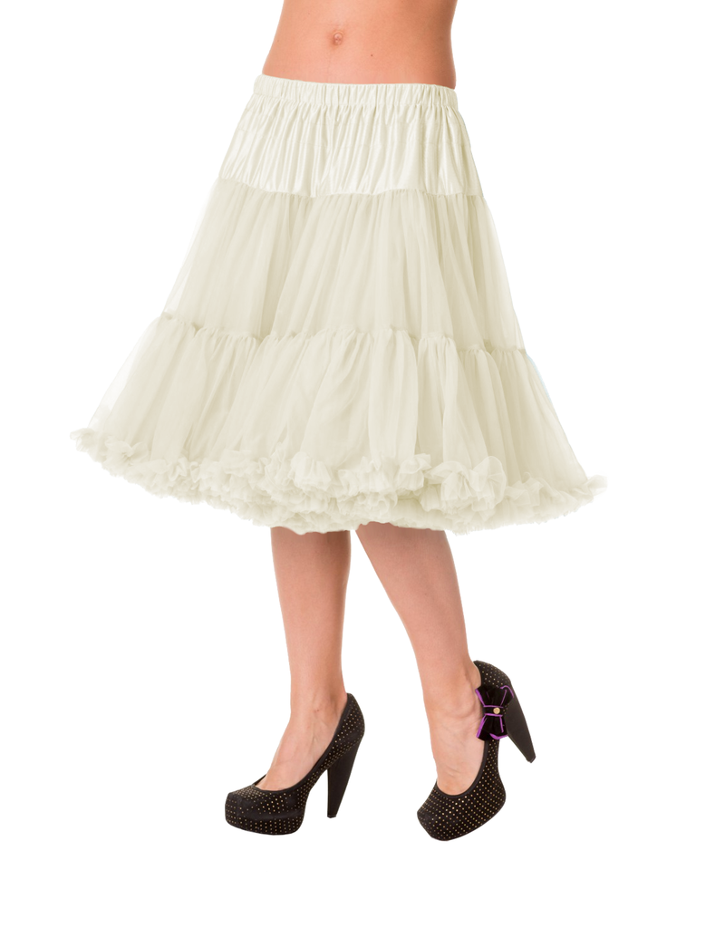 Banned Banned 50s Starlite Petticoat Medium Ivory 23'