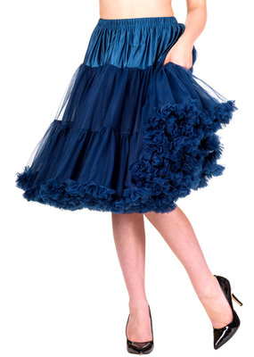 Banned Banned 50s Starlite Petticoat Medium Navy 23'