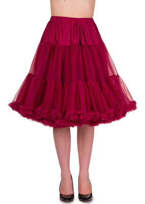 Banned Banned 50s Starlite Petticoat Medium Bordeaux 23'