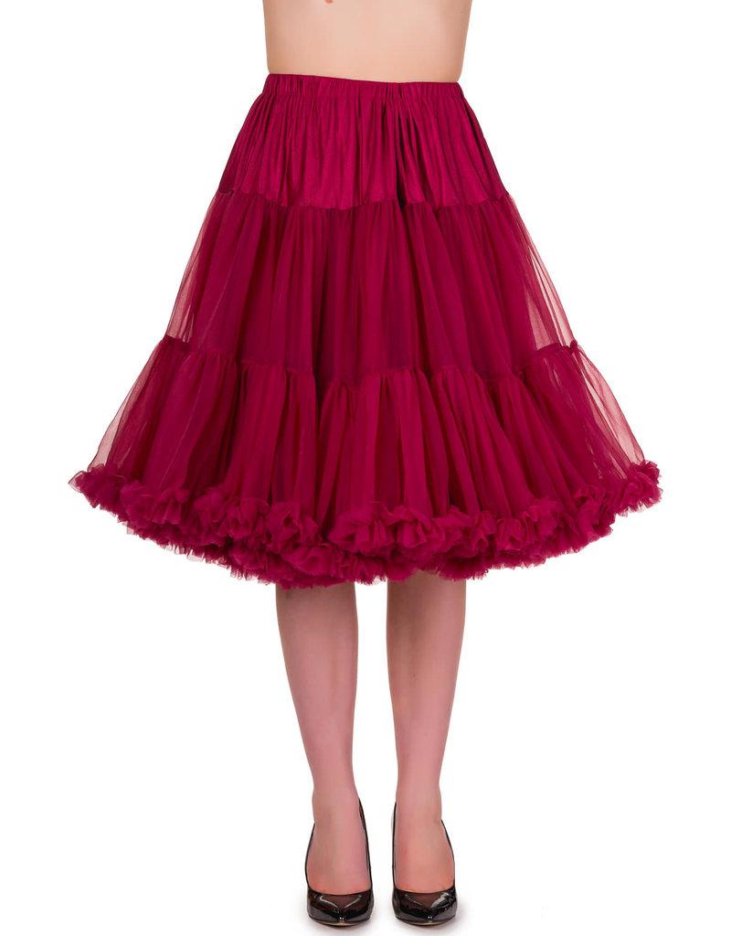 Banned Banned 50s Starlite Petticoat Medium Bordeaux 23'