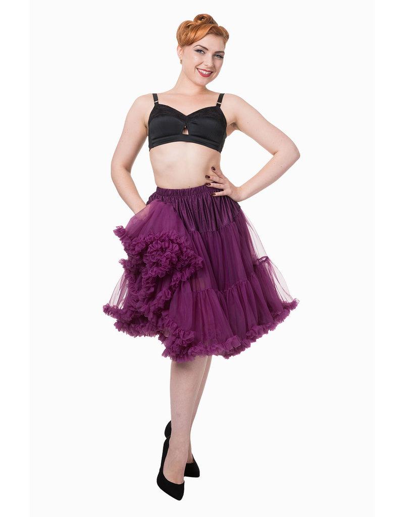 Banned Banned 50s Starlite Petticoat Medium Aubergine 23'