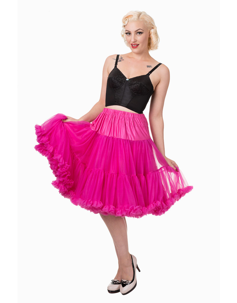 Banned PRE ORDER Banned Starlite Petticoat Hot Pink 23'