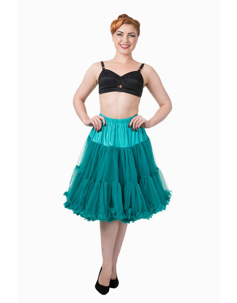 Banned Banned 50s Starlite Petticoat Medium Teal 23'