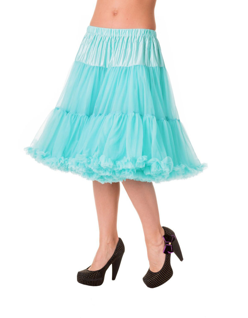 Banned Banned 50s Starlite Petticoat Medium Turquoise 23'