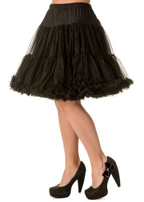 Banned PRE ORDER Banned Walkabout Petticoat Black 21'