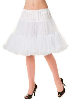 Banned Banned 50s Walkabout Petticoat Short White 21'