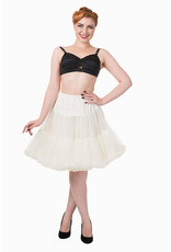 Banned Banned 50s Walkabout Petticoat Short Ivory 21'