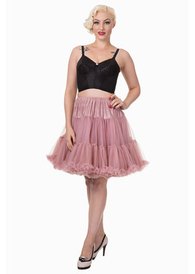 Banned PRE ORDER Banned Walkabout Petticoat Dusty Pink 21'
