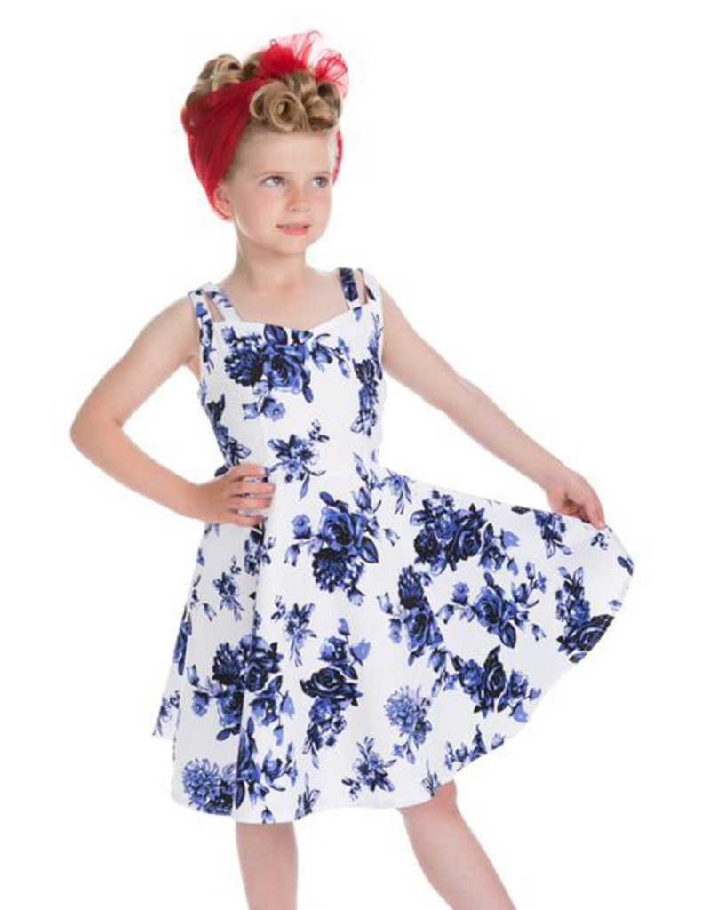 Hearts and Roses Hearts & Roses 50s Blue Rosaceae Swing Kids Dress