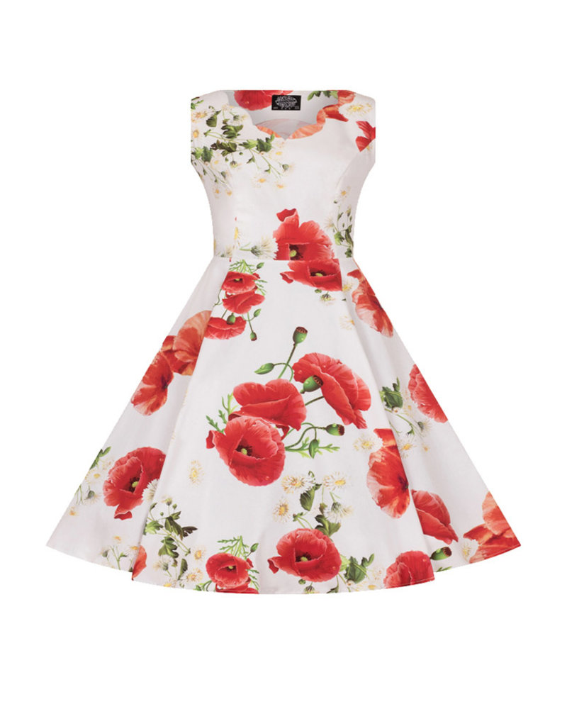 Hearts and Roses Hearts & Roses Opium Poppy Floral Kids Dress