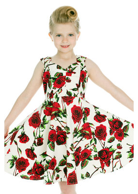 Hearts and Roses Hearts & Roses Childrens 50s Ditsy Rose Dress