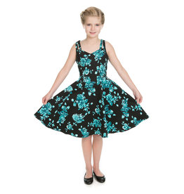 Hearts and Roses Hearts & Roses 50s Black Rosaceae Swing Kids Dress