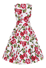 Hearts and Roses Hearts and Roses 1950s Sweet Rose Swing Dress