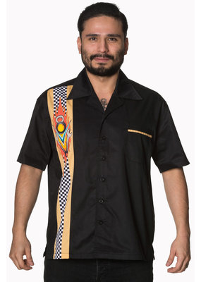 Banned Banned Retro 50s Bowler V8 Mechanic Shirt