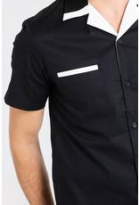 Banned Chet Rock 1950s Psychobilly Shirt Black White