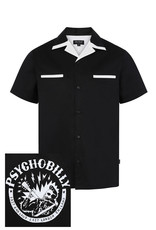 Banned Chet Rock 1950s Psychobilly Shirt Black White