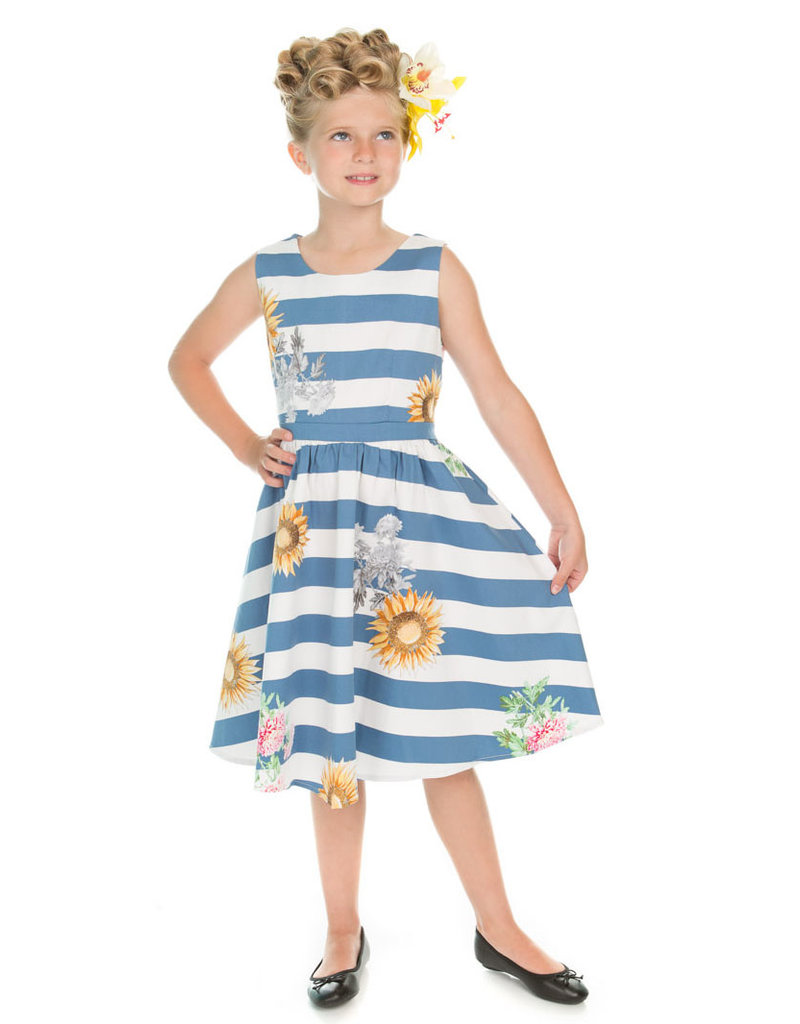 Hearts and Roses Hearts & Roses 50s Summer Sunflower Kids Dress