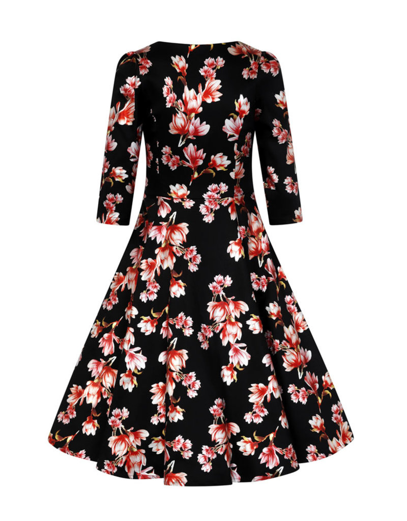 Hearts and Roses Hearts and Roses 1950s Metallic Magnolia Swing Dress