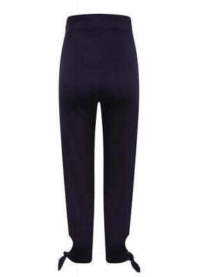 Collectif Collectif 1950s Anna Plain Capris Navy Blue