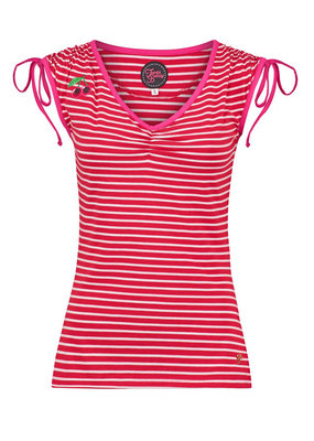 Tante Betsy Tante Betsy 1950s Breton String Top Red