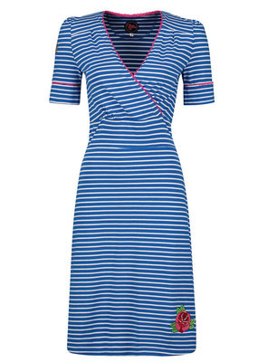 Tante Betsy Tante Betsy 1940s Auntie Breton Dress Blue