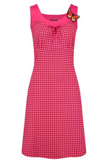Tante Betsy Tante Betsy 1960s Josephine Houndstooth Dress Red